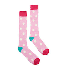 Buy Joules Fab Fluffy Spot Knee High Socks Online at johnlewis.com