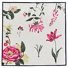 Buy Joules Bloomfield Silk Square Scarf, Cream/Multi Online at johnlewis.com
