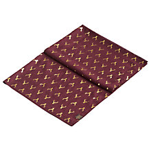 Buy Joules Orna Stag Print Scarf, Bordeaux/Gold Online at johnlewis.com