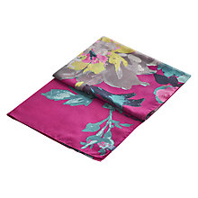 Buy Joules Wensley Floral Print Scarf, Fuchsia/Multi Online at johnlewis.com