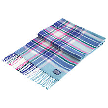 Buy Joules Bracken Check Scarf, Teal/Multi Online at johnlewis.com