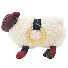 Buy Joules Sheep Tweed Keyring, Cream Online at johnlewis.com