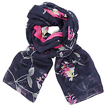 Buy Joules Wensley Honeysuckle Floral Scarf, Turquoise Online at johnlewis.com