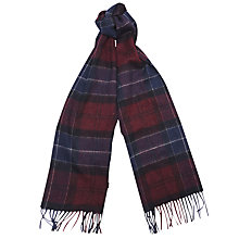 Buy Barbour Tartan Scarf, Navy/Bordeaux Online at johnlewis.com