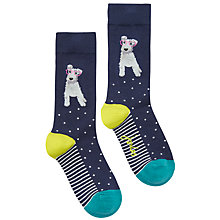 Buy Joules Brill Bamboo Dog Print Ankle Socks, Navy/Multi Online at johnlewis.com