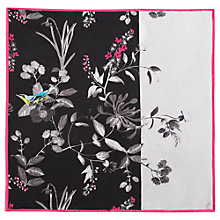 Buy Joules Bloomfield Silk Square Scarf, Black/Multi Online at johnlewis.com