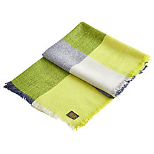 Buy Joules Berkley Check Print Scarf, Lime Online at johnlewis.com