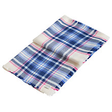 Buy Joules Heyford Check Print Scarf, Cream/Multi Online at johnlewis.com