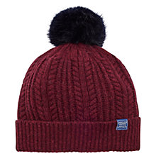 Buy Joules Faux Fur Bobble Pom Pom Beanie Hat Online at johnlewis.com