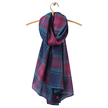 Buy Joules Julianne Check Scarf, French Navy/Pink Online at johnlewis.com