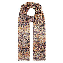 Buy John Lewis Beautiful Brushstroke Print Scarf, Pink Mix Online at johnlewis.com