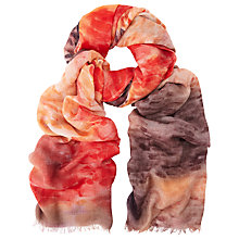 Buy John Lewis Linear Brush Stroke Scarf, Red Online at johnlewis.com