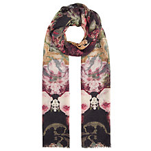 Buy John Lewis Gothic Floral Print Scarf, Multi Online at johnlewis.com