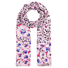 Buy John Lewis Watercolour Animal Pansy Scarf, Purple/Multi Online at johnlewis.com