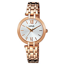 Buy Lorus RG284KX9 Women's Bracelet Strap Watch, Rose Gold/White Online at johnlewis.com