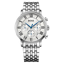 Buy BOSS Men's Elevation Chronograph Date Bracelet Strap Watch Online at johnlewis.com