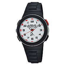 Buy Lorus Children's PU Rubber Strap Watch Online at johnlewis.com