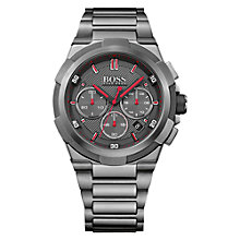Buy Hugo Boss 1513361 Men's Supernova Chronograph Date Bracelet Strap Watch, Gunmetal Online at johnlewis.com