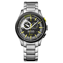 Buy BOSS 1513336 Men's Yachting Timer 11 Chronograph Date Bracelet Strap Watch, Silver/Black Online at johnlewis.com