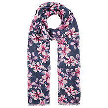 Buy John Lewis Shadow Lily Print Scarf, Indigo/Pink Online at johnlewis.com