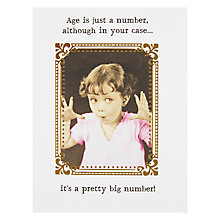 Buy Pigment Age Is Just A Number Birthday Card Online at johnlewis.com