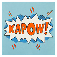 Buy James Ellis Stevens Kapow! Greetings Card Online at johnlewis.com