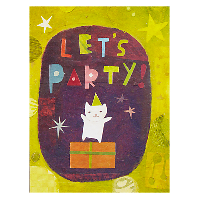 Product photo of Pigment let s party cat greetings card