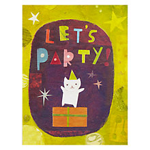 Buy Pigment Let's Party Cat Greetings Card Online at johnlewis.com