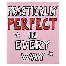 Buy Portfolio Practically Perfect Birthday Card Online at johnlewis.com