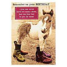 Buy Pigment Donkey In Boots Birthday Card Online at johnlewis.com