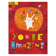 Buy Pigment You're Amazing Bunny Greetings Card Online at johnlewis.com