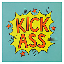 Buy James Ellis Stevens Kick Ass Greetings Card Online at johnlewis.com
