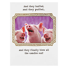 Buy Pigment Three Little Pigs Birthday Card Online at johnlewis.com