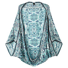 Buy Jigsaw Paisley Silk Cape, Blue Online at johnlewis.com