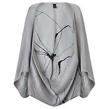Buy Jigsaw Linear Flower Cape, Grey Online at johnlewis.com