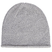 Buy John Lewis Glitter Beanie, Grey Online at johnlewis.com