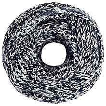 Buy John Lewis Multistitch Snood, Navy/White Online at johnlewis.com