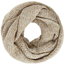 Buy John Lewis Wool Blend Snood, Camel Marl Online at johnlewis.com