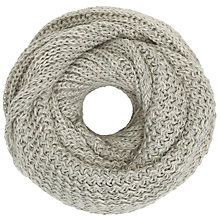 Buy John Lewis Soft Stripe Textured Snood, Grey Online at johnlewis.com