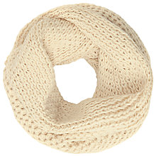 Buy John Lewis Wool Blend Chunky Lovely Snood, Cream Marl Online at johnlewis.com