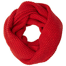 Buy John Lewis Wool Blend Sweet Knit Snood, Red Online at johnlewis.com