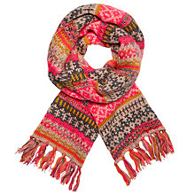 Buy John Lewis Christmas Fairisle Scarf, Neon/Multi Online at johnlewis.com