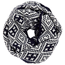 Buy John Lewis Fairisle Snood, Navy/Cream Online at johnlewis.com
