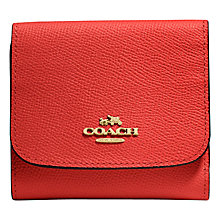 Buy Coach Small Leather Wallet, Carmine Online at johnlewis.com