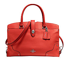 Buy Coach Mercer Leather Satchel Online at johnlewis.com