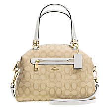 Buy Coach Signature Jacquard Prairie Satchel Online at johnlewis.com