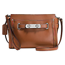 Buy Coach Swagger Wristlet Leather Clutch Bag, Saddle Online at johnlewis.com