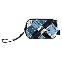 Buy Coach Across Body Clutch Bag, Denim Skull Print Online at johnlewis.com