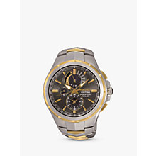 Buy Seiko Men's Date Two Tone Bracelet Strap Watch Online at johnlewis.com