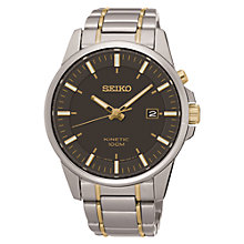 Buy Seiko SKA735P1 Men's Date Two Tone Bracelet Strap Watch, Multi/Ash Online at johnlewis.com